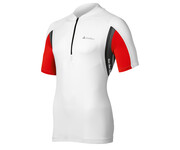 Odlo Men Stand-up collar s/s 1/2 zip ASPHALT white-fiery red